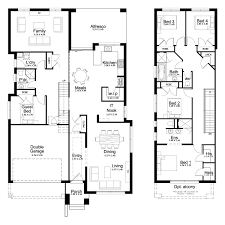 100 Floor Plans For Split Level Homes Plan Entry House With Attached