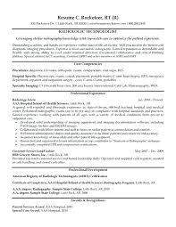 Tech Resume Templates X Ray Vet Technician