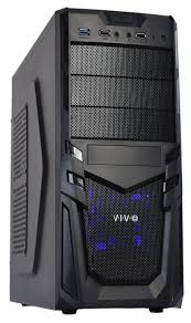 100 V01 CASE Black ATX Mid Tower PC Case With USB