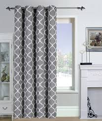 Navy Geometric Pattern Curtains by Amazon Com Printed Blackout Room Darkening Color Block Grommet