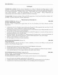Executive Assistant Resume Samples 2016 New Administrative Sample Of