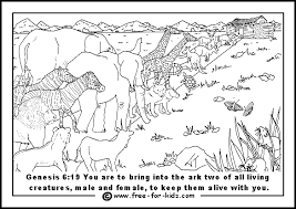 Free Printable Colouring Pages All About The Story Of Noahs Ark
