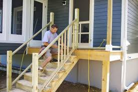 Going to Porch Steps Handrail