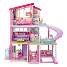 Gymax 46 Pink Dollhouse W Furniture Gliding Elevator Rooms 3