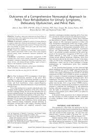 High Tone Pelvic Floor Dysfunction Exercises by Outcomes Of A Comprehensive Nonsurgical Approach To Pelvic Floor
