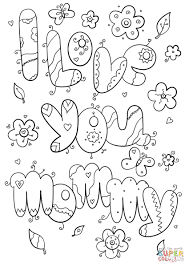 Love You Coloring Pages I Mommy Page