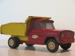 100 Vintage Tonka Truck 1950s Red Yellow Pressed Steel Dump Etsy