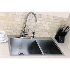 Overstock Stainless Steel Kitchen Sinks by Topmount 31 5 Inch Double Bowl Stainless Steel Kitchen Sink Free