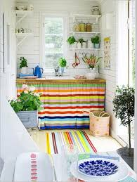 Colorful Kitchen Design Ideas In Stripes