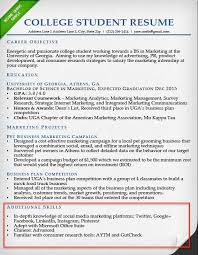 Internship Resume Skills Section Example Examples
