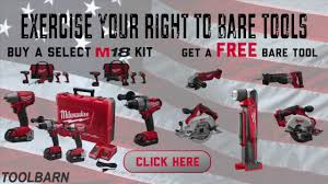 Get A FREE Milwaukee M18 Bare Tool From Toolbarn.com - YouTube Old Barn Tools Stock Photo Image Of Poles Blades Handles 72274158 Toolbarn Banter Toolbarncoms Official Blog Milwaukee Plumbing Power Toolbarncom Makita Combo Kits Cordless Reciprocating Saws Press Irwin Tools 55 Youtube Pssure Washer Surface Cleaners Hitachi Air Screws Nails Primitive Galvanized Vtg Metal Rustic Pail Bucket Laundry Garden Antique Oak 7 Drawer Machinist Tool Box Chest Circa 1930 W Key Grinders Cutoff