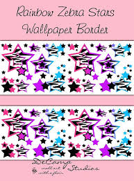 Rainbow Zebra Print Bedroom Decor by 409 Best Wallpaper Border Decals Images On Pinterest