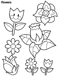 Vibrant Small Flower Coloring Pages Spring Flowers Page