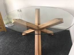 Image Is Loading Heals Spyder Round Glass Table