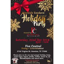 Westside Holiday Party Five Central Houston 22 December