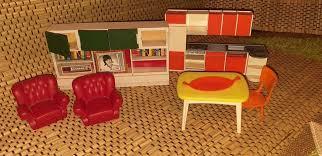 miniatur möbel puppenhaus küche wohnzimmer sessel 70er jahre