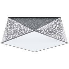 deckenleuchte deckenle hexagon silber modern esszimmer wohnzimmer küche