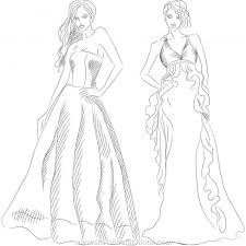 Designer Clothes Sketches Pix For Dresses Drawings Design