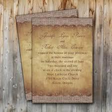 Rustic Printable Burlap Wedding Invitations Online EWI249
