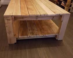 Coffee Table Made From Pallet Wood Oak Pine Stained In A Clear Satin