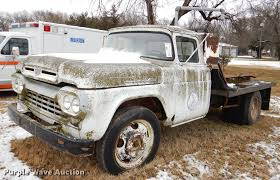100 1960 Truck Ford F500 Flatbed Truck Item DE0018 SOLD February
