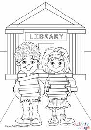 Library Colouring Page