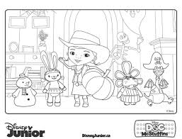 Doc Mcstuffins And Friends Coloring Pages Free For Kids