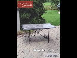 Menards Folding Chair Mat by Backyard Creations Elaina Rectangular Dining Patio Table At Menards