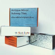 Mirror Tiles 12x12 Gold by Antique Mirror Backsplash Installed