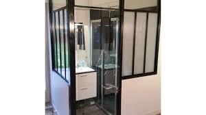 salle d eau chambre salle de bain avec verrière vitré 35 h2a