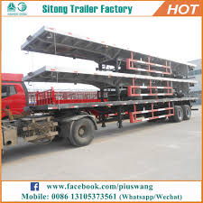 100 20 Ft Truck Inexpensive Ft 40ft Flat Bed Semitrailer High Quality And