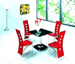 Black And Red Dining Table Set Us Best Round Tables Images On Room White Chairs With