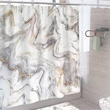 kunst marmor druck dusche vorhang moderne badezimmer waschraum decor dicken badewanne abdeckung vorhänge wasserdicht bad vorhänge