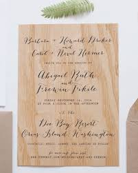 Wood Veneer Wedding Invitation Anelise Salvo Design OSBP3