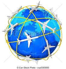 International Air Travel Concept Stock Illustration