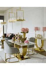 opera gold stuhl für das wohn und esszimmer grau