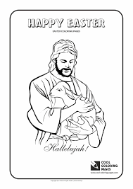 Jesus Christ And Lamb Coloring Page