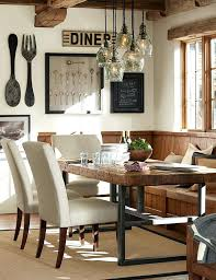 Pottery Barn Lighting Innovative Rustic Dining Room With Best Ideas On
