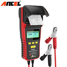 100 Heavy Duty Truck Battery Ancel BST500 12V 24V Car Tester With Thermal Printer Car