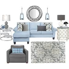 Blue White And Gray Living Room Love It For Our With The Dark Wood I Think Would Look Nice Molding