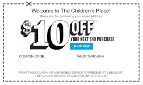 2X) Children's Place $10 Off $40 Coupon >>>>>Super Fast ...