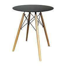 ihana home runder esstisch moderne innenmöbel für wohnzimmer küche büro bistro kaffee und verschiedene stühle erhältlich schwarzer