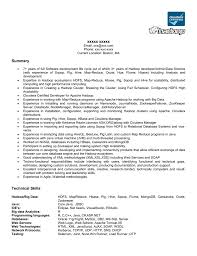 Hadoop Sample Resume