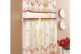 White French Country Kitchen Curtains by Red Beige Rustic French Country Rooster Kitchen Curtains Rustic