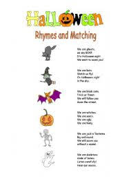Poems About Halloween That Rhymes english teaching worksheets rhyming words