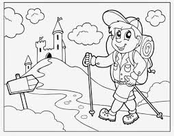 Getting Kids Excited To Hike Coloring Pages