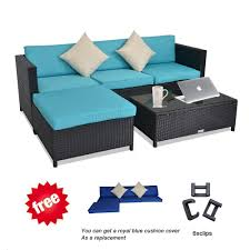 Leaptime Patio Furniture Rattan Couch 5-Piece Deck Sofa Set Garden  Sectional Furniture Turquoise Cushion Royal Blue Cushion Cover Free Black  Rattan Pillow Perfect Ggoire Prima Blue Chaise Lounge Cushion 80x23x3 Outdoor Statra Bamboo Adjustable Sun Chair Royal With Design Yellow Carpet Wning And Walls Rug Brown Grey Gray Paint Shop For Outime Patio Black Woven Rattan St Kitts Set Wicker Bright Lime Green Cushions Solid Wood Fntiure Best Rattan Garden Fniture And Where To Buy It The Telegraph Garden Backrest Cushioned Pool Chairroyal Salem 5piece Sofa Fniture Sectional Loveseatroyal Cushions2 Piece Sunnydaze Bita At Lowescom