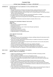 Download Civil Project Manager Resume Sample As Image File