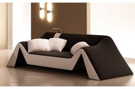 canapé noir et blanc canapé 2 places en cuir italien stefano noir et blanc mobilier privé