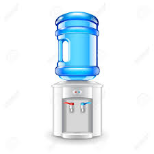 fice Water Cooler Isolated White realistic Vector